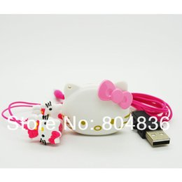 $enCountryForm.capitalKeyWord Canada - Wholesale- Hot Sale 2 pcs lot The Newest Mini Fashion Hello Kitty Shaped Card Reader MP3 Music Player With Hello Kitty Earphone&Mini USB