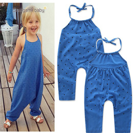493983ed3ca9 Girls Kids Onesies Rompers Jumpsuits Overalls for Children Baby Cotton  Backless Rompers Jumpsuits One Piece Dot Suspender Overalls For 1-6T