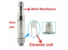 $enCountryForm.capitalKeyWord NZ - Bud CE3 ceramic coil glass cartridge vaporizer atomizer tank open vape thick oil smoking 1.2mm hole size round tip steel cartomizer