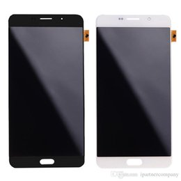 White Screen S Canada - For Samsung Galaxy A9 A9000 LCD Display Touch Screen Digitizer Assembly Replacement Parts No Spots Black White 50pcs pack