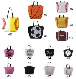 $enCountryForm.capitalKeyWord Canada - High Quality Baseball Softball Basketball Designer Handbags Cotton Canvas Flap Bag Single Shoulder Bags For Women Beach Sports