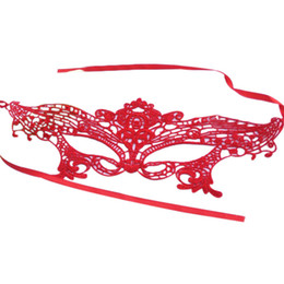 Celebrity Halloween Face Masks For Girls NZ - Wholesale-New Red Pink Sexy Elegant Eye Face Mask Masquerade Ball Carnival Fancy Party dress up mask for Girl Halloween&Christmas supply