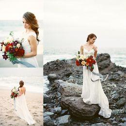 China wedding shop online shopping - Modest Backless Beach Wedding Dresses Sexy Vestido De Noiva Cap Sleeve Handmade Bridal Gowns Shop Online China