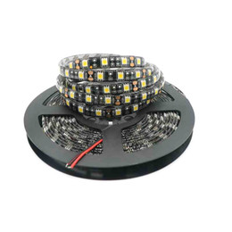 Round pcb online shopping - Black PCB LED Strip IP65 Waterproof DC12V LED m m Flexible LED Light White Warm White