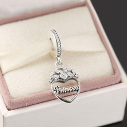 Sterling Coin Bracelet NZ - Love crown pendant beads charm 100% 925 Sterling-Silver-Jewelry Clear Symbols Bead DIY Bracelets Bangles Accessories