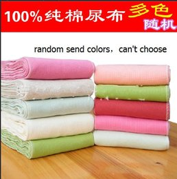 Washable Cotton Nappy Canada - New Reusable and Easy use Soft and Breathable color cotton Baby Cloth Diaper Nappy Liners inserts Free shipping