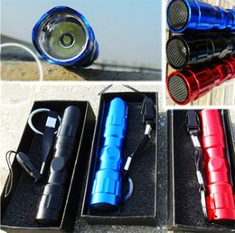 Discount battery cord - Waterproof TK65 3W Mini LED Flashlight Alloy Stainless Steel Shell Flashlight Gift Box Keychain Cord AA battery