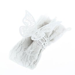 Chinese  Wholesale- 12pcs Laser Cut Cystal Cream White Butterfly Napkin Rings Serviette Holder Wedding Banquet Dinner Party Decor Favor manufacturers