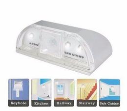 Motion detector ir online shopping - Lamp Night Light Intelligent Auto PIR Door Lock Induction Lamp Door Keyhole IR Motion Sensor Heat Detector LEDs Smart Light