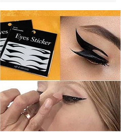Hot temporary tattoos sexy online shopping - Hot Pair Eyes Sticker Cat Style Eyeliner Sexy Temporary Double Eyeshadow Eyelid Tape Smoky Tattoo Eye Makeup Tools Black