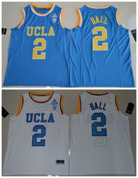 Taille Xl Pas Cher-2017 UCLA Bruins Lonzo Ball 2 College Basketball Authentic Jersey - Blanc Taille S, M, L, XL, 2XL, 3XL