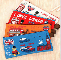 old fashion stationery Australia - Canvas fashion Design student Pencil Case Stationery Pen Bag Cosmetic Bags Make up Pouch Case baby coin purse