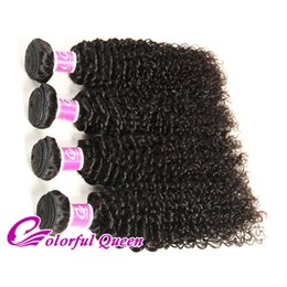 Colorful Human Hair Australia - Colorful Queen Brazilian Virgin Hair 4 Bundles Deals Afro Kinky Curly Weave Human Virgin Hair Extensions Micro Braiding 400g Brazilian Hair