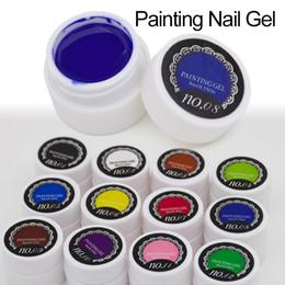 Glitter red Gel polishes online shopping - pcsGel Nail Paint Polish Draw Painting Colors UV Bio Gel Long lasting Glitter Soak Off Colorful Nail Polish