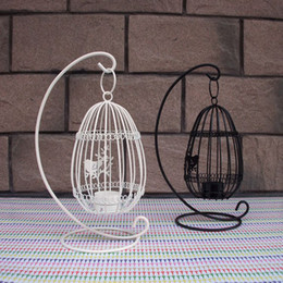 $enCountryForm.capitalKeyWord NZ - Beautiful Birdcage Iron Candlestick Decorative Tealight Metal Candle Holders Creative Wedding Products Gifts Sconce