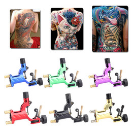 Doublure En Tatoo Pas Cher-Dragonfly Rotary Tattoo Machine Shader Liner 7 couleurs Assorti Tatoo Motor Gun Kits Fourniture pour les artistes
