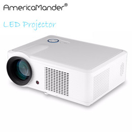 Data show Dlp projector online shopping - inch Brightest Lumen Full HD DLP Business Advertising Education data show D Projector Beamer Projektor Proyector