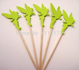 $enCountryForm.capitalKeyWord NZ - custom 30pcs cheap Tinker bell Cupcake Toppers Toothpicks wedding baby shower birthday party favors Supplies Party Decoration
