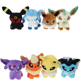 Discount leafeon glaceon plush - 14cm Stuffed Animals Eevee Plush Toys Kids Christmas Gifts Glaceon Leafeon Eevee Vaporeon Flareon Soft Doll Cute Toys Ch
