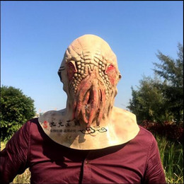 doctor cosplay Australia - Top Grade Octopus Mask Doctor Who Movie Theme Creepy Latex Head Halloween Mask Carnival Party Cosplay Mask Latex Rubber Free Shipping