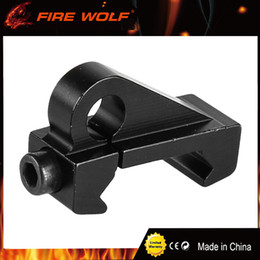 Discount rifle sling mounts - FIRE WOLF New Mini Tactical Rifle Aluminum Sling Swivel Attachment Mount 20mm Picatinny Rail For Hunting