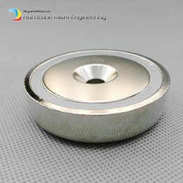 $enCountryForm.capitalKeyWord NZ - 100 pcs Mounting Magnet Diameter 48mm Clamping Pot Magnet with Countersunk Crew Hole Strong Neodymium Permanent Holding Magnet