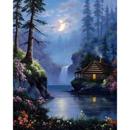 Chinese  Nightscape 100% Full Drill Diamond Painting Diamond Mosaic Cross Stitch Embroidery Handmade Home Decor Gifts (Free Shipping) manufacturers