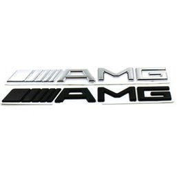 Chinese  3D ABS Car Logo 3M AMG Letter Badge Sticker For Mercedes MB CL GL SL ML A SLK B C E S Class Silver Black High quality manufacturers