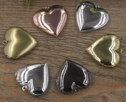$enCountryForm.capitalKeyWord Canada - 29*27*7mm Silver antique bronze rose gold black gun heart photo locket cheap charms jewelry, heart-shaped picture frame pendants wish box