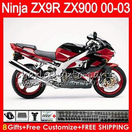 Zx9r fairing red online shopping - 8Gifts Colors For KAWASAKI NINJA ZX R ZX9R CC NO31 red black ZX R ZX900 ZX900C ZX R Fairing kit