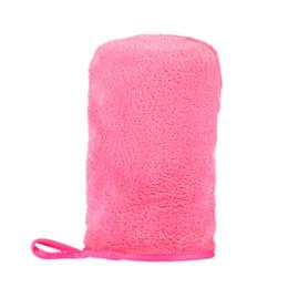 Оптовая микрофибры демакияж мочалку перчатки полотенце красоты кожи лица мочалкой новый