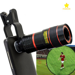 8x Telescope Zoom Australia - Telescope Lens 8x Zoom Unniversal Optical Camera Telephoto Len with Clip for Iphone Samsung HTC Sony LG Mobile Smart Cell Phone