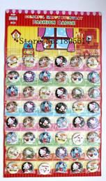 Discount plastic swings - New! Popular 48pcs Hello Kitty badge diameter 3cm pin charm full swing kids party best gift free shipping