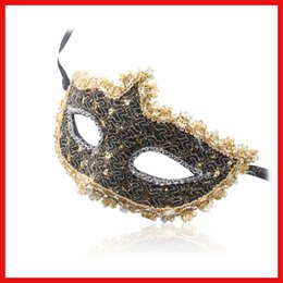 $enCountryForm.capitalKeyWord Canada - Halloween Masquerade Crystal Rhinestones Decor venetian carnival Mask For Party Dress Party Mask Sexy Lace Mask Free Shipping