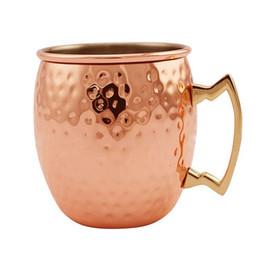 pottery handmade 2019 - coffee beer tea mugs Authentic Hammered Copper Moscow Mule Mug Handmade of Copper Brass Handle Hammered Moscow Mule Mug