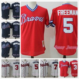 timeless design 680e8 8ac5f atlanta braves 5 freddie freeman navy blue kids jersey