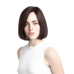 $enCountryForm.capitalKeyWord UK - human hair weave wig Full Lace Human Hair Wig Senior silk Long Wavy Full Lace Wigs Brazilian Virgin Hair 100% With Bangs For women Color 4#