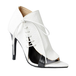 f19f3f9f9161 Kolnoo Womens Fashion Handmade Lace-up Nubuck Leather Peep Toe Elegant  Style High Heel Party Pumps White XD072