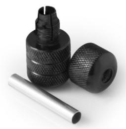 Fourniture de poignées de machine de tatouage en alliage d'aluminium à verrouillage automatique noir en gros-25mm