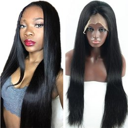 silk based peruvian wig Australia - Silk Top Lace Wigs Virgin Brazilian Human Hair High Quality Silky Straight Silk Base Full Lace Wig for Black Women Free Shipping