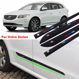 $enCountryForm.capitalKeyWord Canada - For Volvo Series 4pcs High-quality Anti-rub Body Side Door Rubber Decoration Strips Anticollision Strips can Change car-styling
