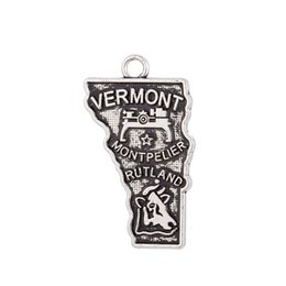 $enCountryForm.capitalKeyWord UK - Free shipping Vintage Vermont State Map Charm Pendant Original Jewelry Making For Travelling Lovers necklaces pendants 14*25mm 20Pcs Lot