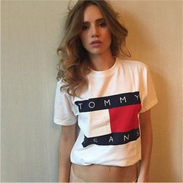 Barato Camisas De Manga Curta De Mulher-2017 Hot-selling Summer New Ladies T-Shirts Letter Print Short Sleeve Moda Brand T Shirt Mulheres T-shirt Tops Tee