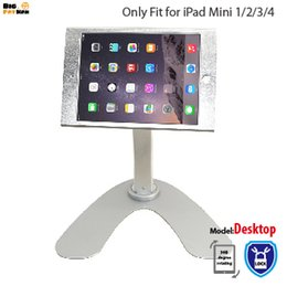$enCountryForm.capitalKeyWord Canada - Metal tablet pc stand Holder POS for iPad mini 1 2 3 4 holder stand 360 rotating desktop Security stand Holder for mini ipad