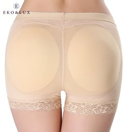Grossistes En Gros Pas Cher-Vente en gros - EKOLUX Femme Butt Lifter Tummy Control Chaussettes rembourrées Shapewear Hip Butt Enhancer Body Shaper Hot Shapers Slimming Underwear
