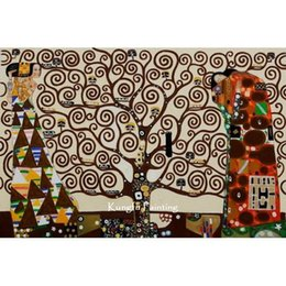 100 hand painted tree of life canvas gustav klimt painting replicas high quality wall art decoration unique gifts klimt115