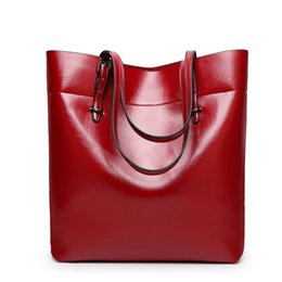 $enCountryForm.capitalKeyWord Canada - Newly Leather Women Bag Bucket Shoulder Bags Large Capacity Top-handle Bags Solid Big Handbag Herald Fashion High Quality