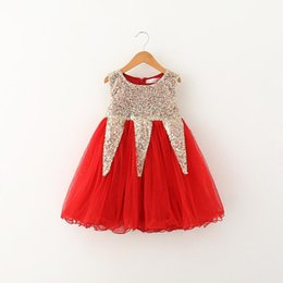 China 2017 hot selling New Arrivals styles girl Inverted triangle sequined skirt Casual girl elegant vest Fashion Princess Dress free shipping supplier casual lolita fashion suppliers