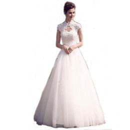 new brand corset back a line bridal dress cap sleeve luxury wedding dress designer custom made free