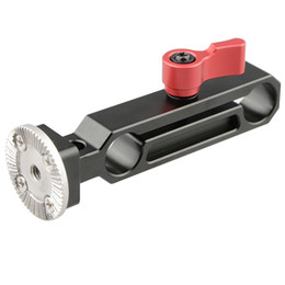 Dslr camera rig hanDles online shopping - CAMVATE mm QR Rod Clamp Railblock with ARRI Rosette Mount for Handle Shoulder Rig Red Thumbscrew